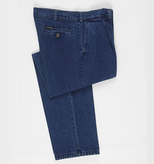 Sterling Clothing2 Pleat Denim Pants |
